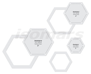 Isomars Regular Hexagon Quilting Patchwork Shape Scale Template Set of 3 Pcs