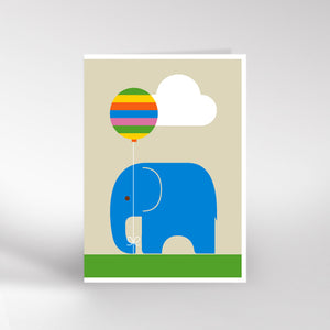 Elephant and balloon card