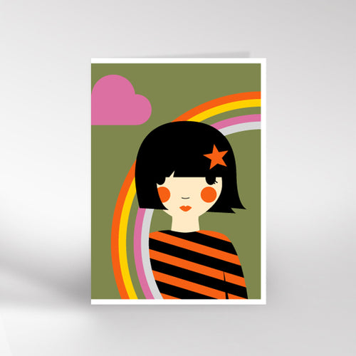 Rainbow girl card