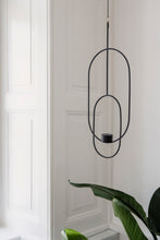 Load image into Gallery viewer, Black Deco hanging tealight holder