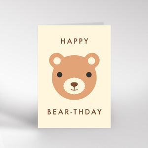 Happy Bear-thday card