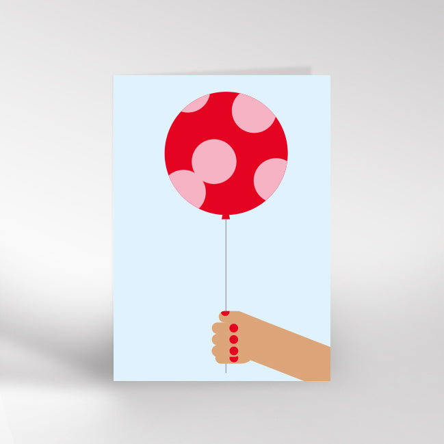 Hand & Balloon Card