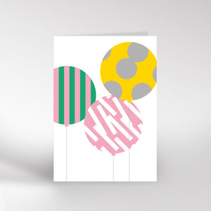 Patterned Balloon Card