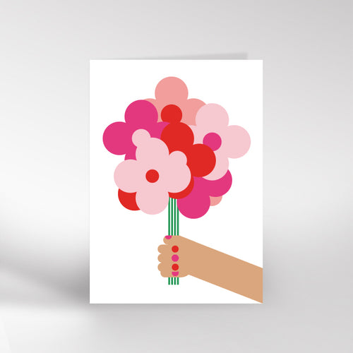Hand & Flowers card