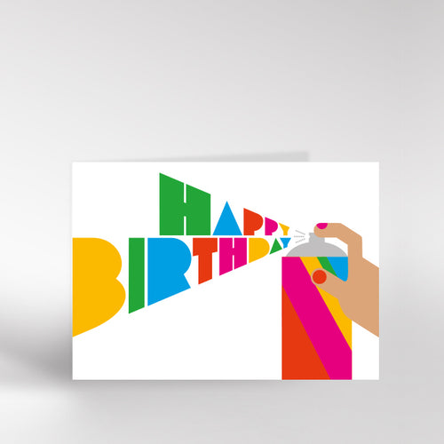 Spray Can Happy Birthday Card