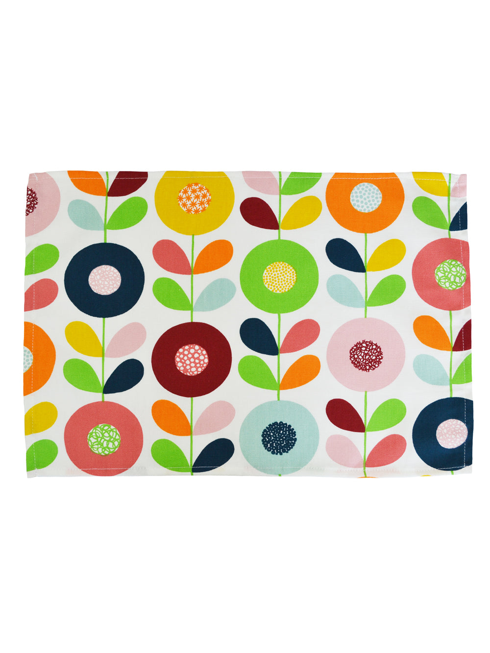 Set of two Cirkleblomma fabric Placemats