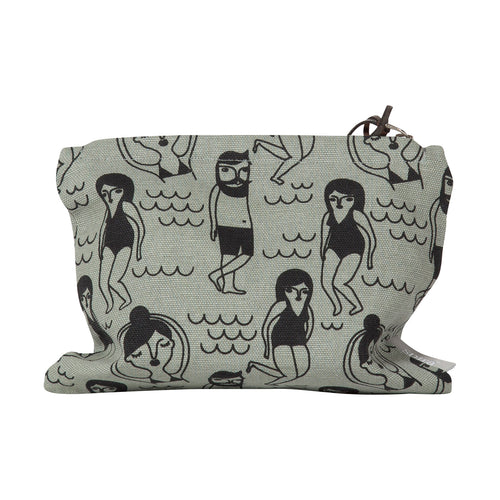Swimmers Small Zip Bag/Purse - Grey