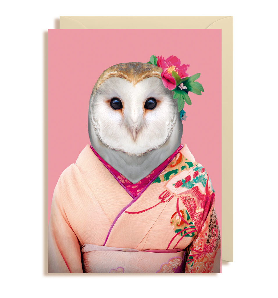 Zoo Pals Barn Owl Greetings Card