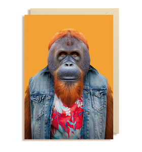 Zoo Pals Bornean Orangutan Greetings Card