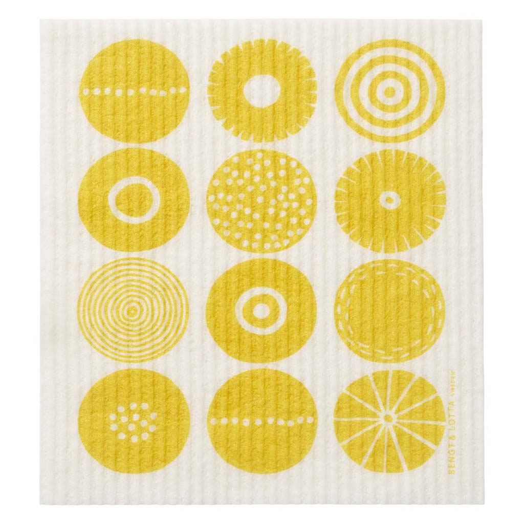 Candy Swedish Dish Cloth - Yellow