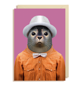 Zoo Pals Harbour Seal Greetings Card