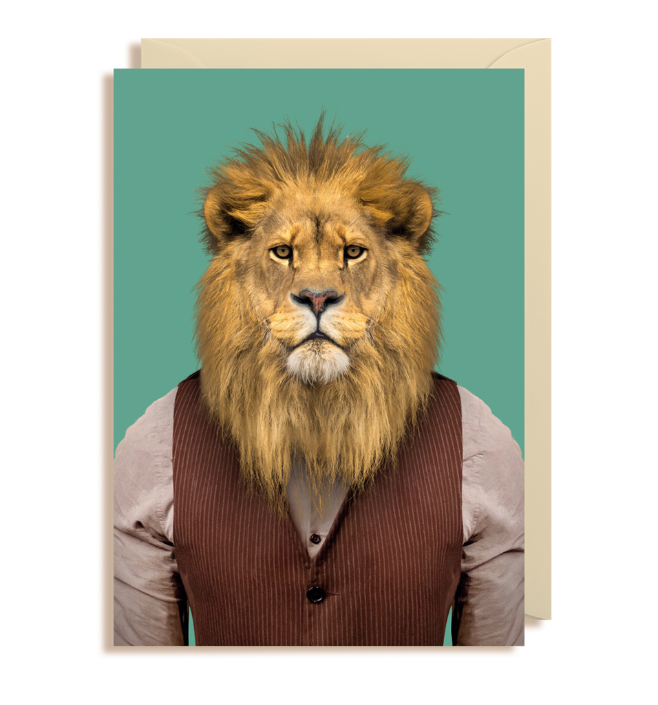Zoo Pals Lion Greetings Card