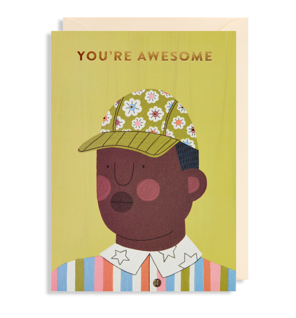 Awesome Guy Greetings Card