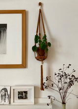Load image into Gallery viewer, Macrame Pot Hanger - Ayra Rust+Ecru
