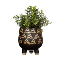 Load image into Gallery viewer, Triangle Black Leggy Planter