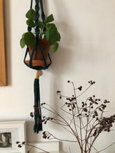 Load image into Gallery viewer, Macrame Pot Hanger - Ayra Green+Gold
