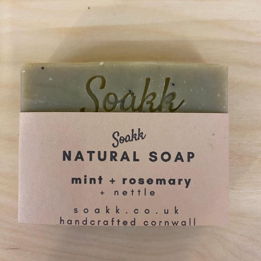 Mint + Rosemary + Nettle Natural soap