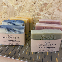 Load image into Gallery viewer, Mint + Rosemary + Nettle Natural soap