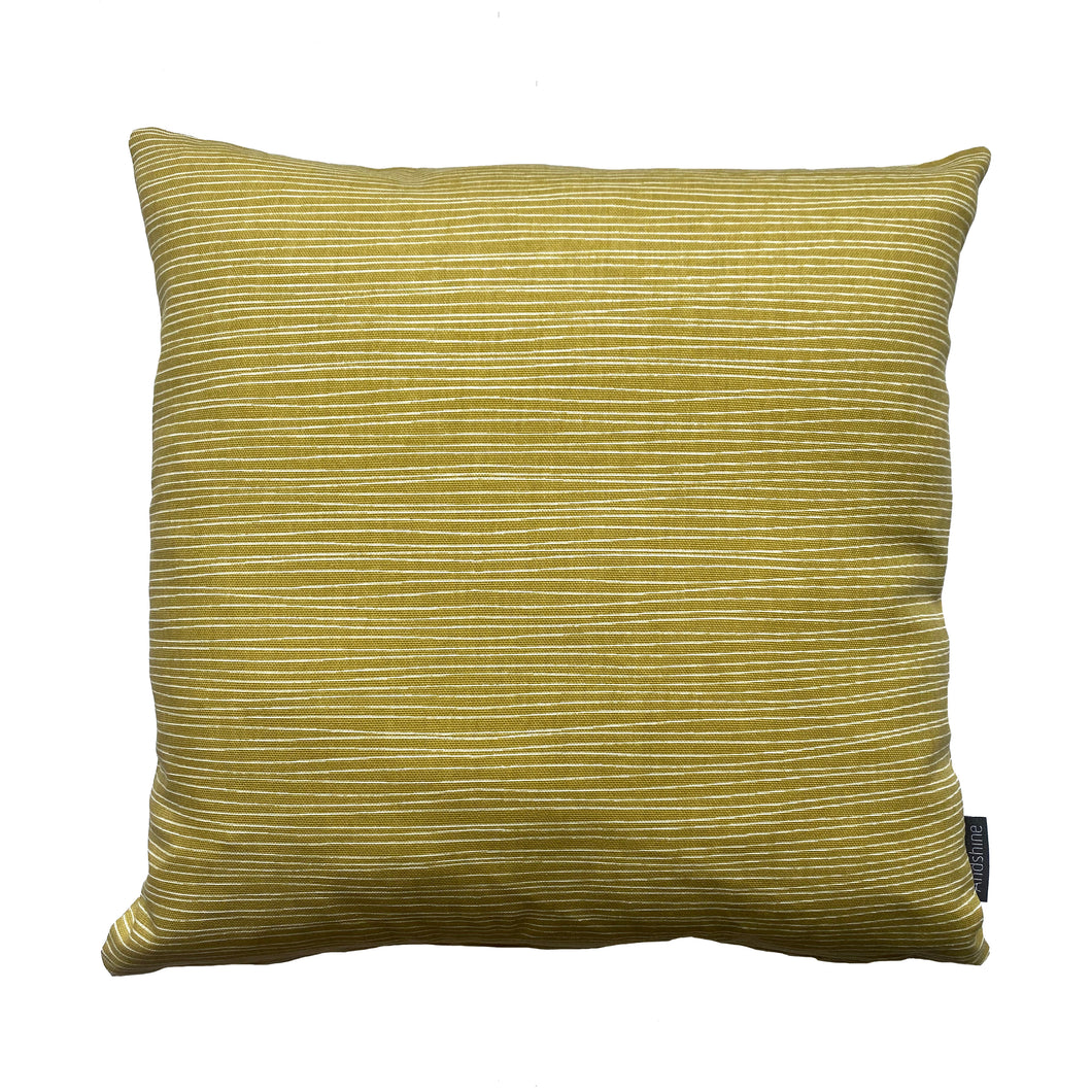 Lines Cushion/Cover Mustard