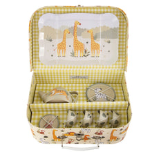 Load image into Gallery viewer, Savannah Safari animals Tin Tea Set