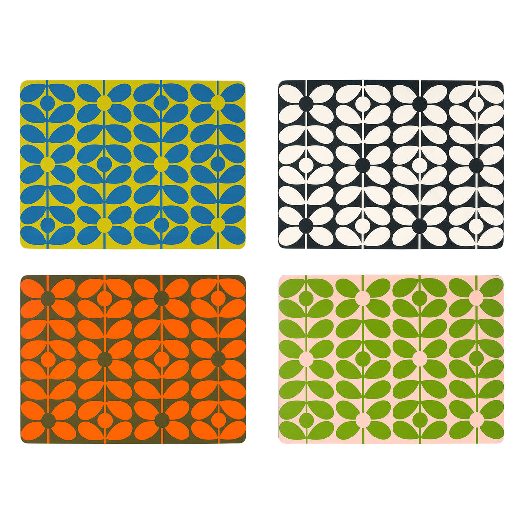 60s Stem Place Mats x4 Set