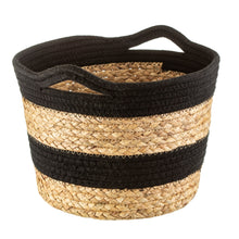 Load image into Gallery viewer, Black Rope & Grass Basket