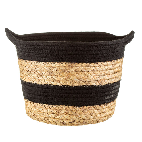 Black Rope & Grass Basket
