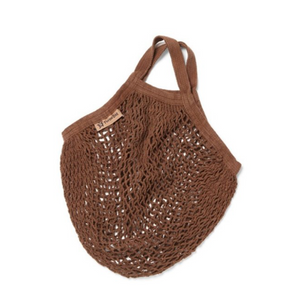 Short Handled Organic Cotton String Bag - Cocoa