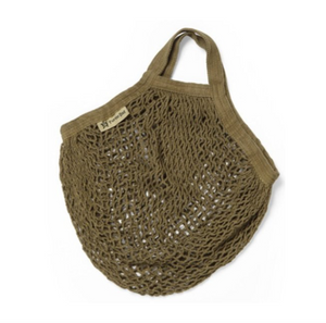 Short Handled Organic Cotton String Bag - Sage