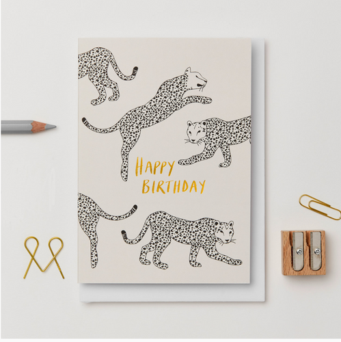 Leopard Happy Birthday Card