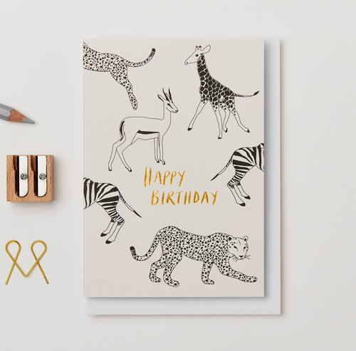 Animal Happy Birthday Card