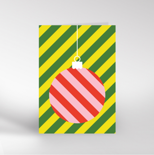 Bauble Christmas card