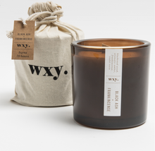 Load image into Gallery viewer, Big Amber BLACK ASH & FRANKINCENSE candle