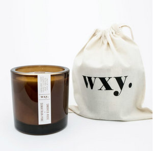 Big Amber SMOKED ROSE & SUMATRAN PINE candle