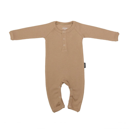 Ribbed romper - Toffee