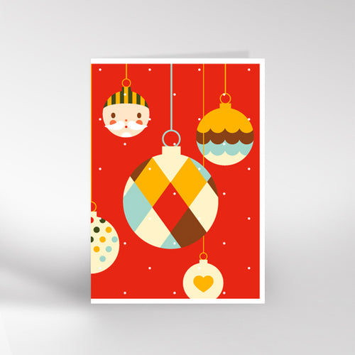 Santa Bauble Christmas card