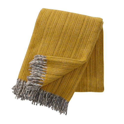 Bjork wool throw/blanket - Mustard