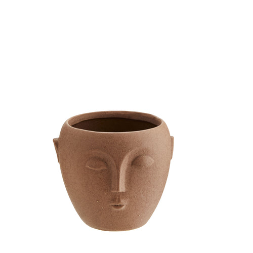 Terracotta Face Plant Pot - Small