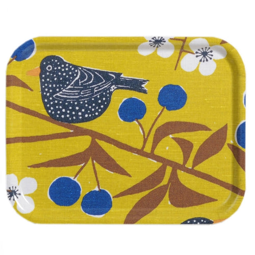 Cherry Bird Small Birch Tray