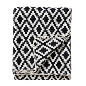 Black & White Diamond Blanket