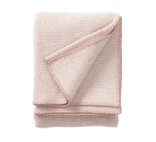 Domino wool throw/blanket - Powder Pink