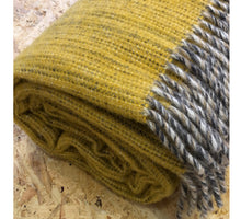 Load image into Gallery viewer, Bjork wool throw/blanket - Mustard