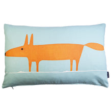 Load image into Gallery viewer, Mr Fox cushion/cover - Blue