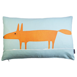 Mr Fox cushion/cover - Blue
