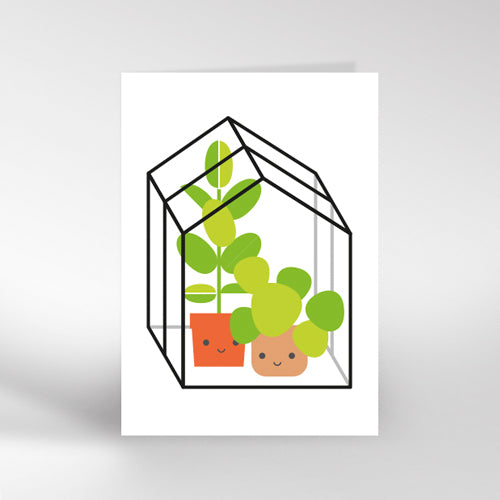Greenhouse Greetings Card