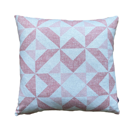 Pink Geometric Cushion/Cover