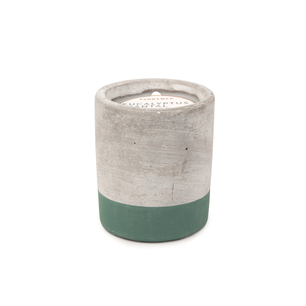 Urban Concrete 3.5oz Eucalyptus + Santal Candle