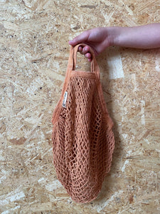Short Handled Organic Cotton String Bag - Pecan