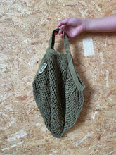 Load image into Gallery viewer, Short Handled Organic Cotton String Bag - Sage