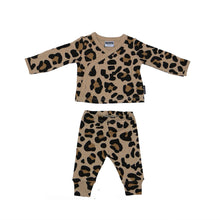 Load image into Gallery viewer, Kimono two piece set - Leopard